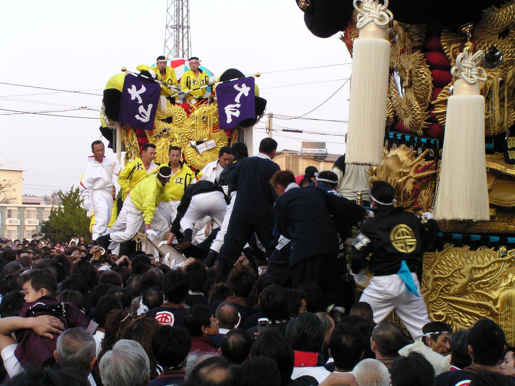 大江太鼓台vs西町太鼓台の喧嘩