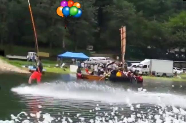 客主-撮影現場水上遭遇