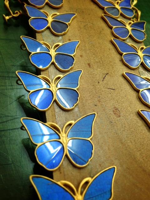 モルフォ蝶のグラデーション