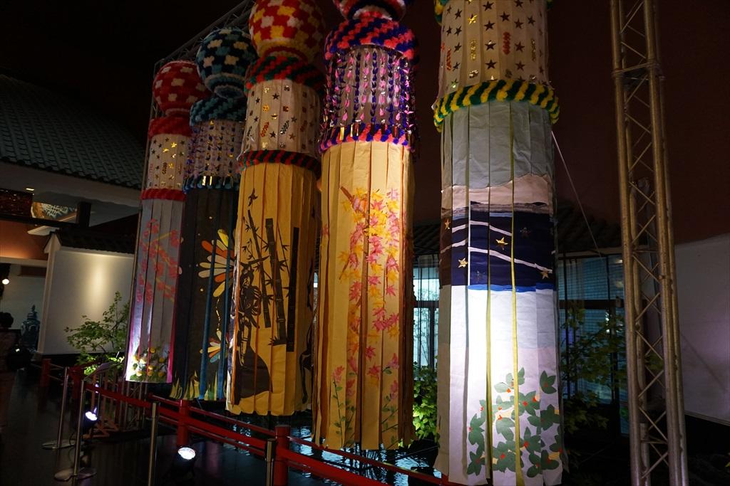 竿燈や七夕飾りも展示されていた_2