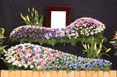 紫と青の花祭壇1020