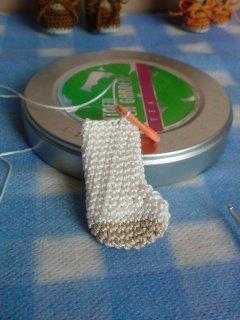 415こま編みの段のラインもキレイ