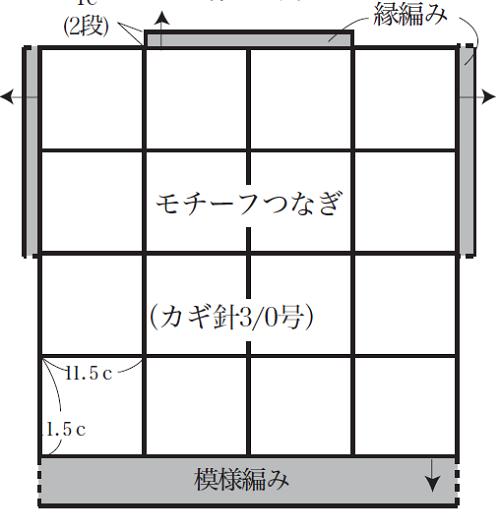 740ピエロビューティーシルクコットンUVモチーフフレンチセーター編み図