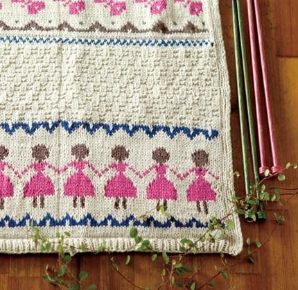 815ピエロオーガビッツワン編み込み模様の棒針編みケース部分