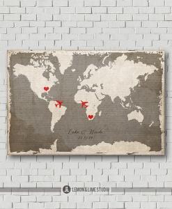 ウェディングツリー世界地図遠距離恋愛リゾ婚
