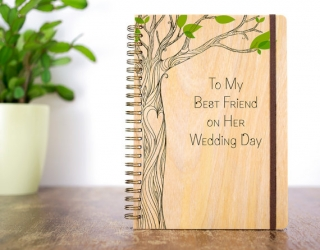 ウェディングブック木カスタムメイド結婚祝い