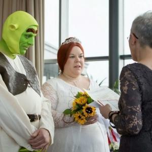 海外おもしろ結婚式画像_シュレック