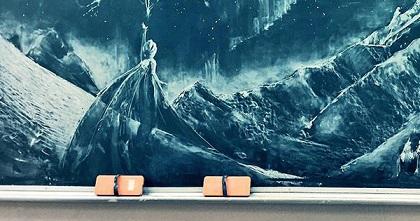 アナ雪の黒板アート