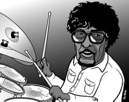 James Gadson caricature