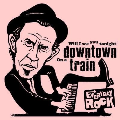 EverydayRock T Shirt Tom Waits caricature