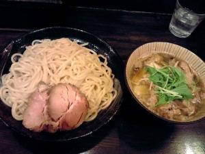 綿麺 フライデーナイト Part80 (15/1/9) 焼きネギと油かすのつけ麺