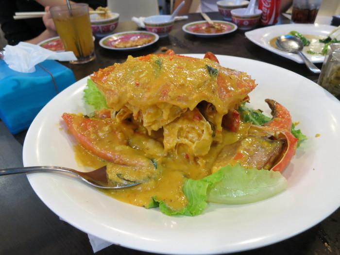 シンガポール 夕食 旅行