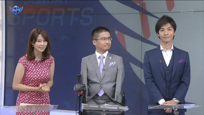 NHK・杉浦友紀アナのFカップ巨乳が凄いと話題に。サンデー ...