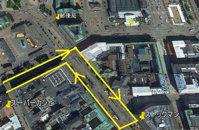 朝の散歩の地図2