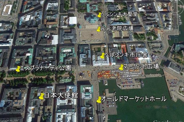 マーケット広場周辺地図