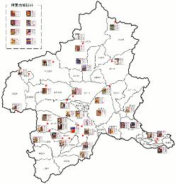 群馬県観光地図