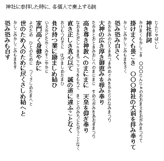 神棚 拝 詞 祓詞(はらいことば) - 白山姫神社の