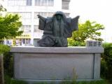 JR琴平駅 鏡獅子像