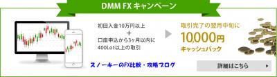 DMMFXキャンペーン攻略