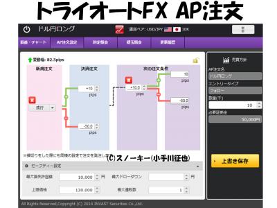 トライオートFX AP注文米ドル円ロング