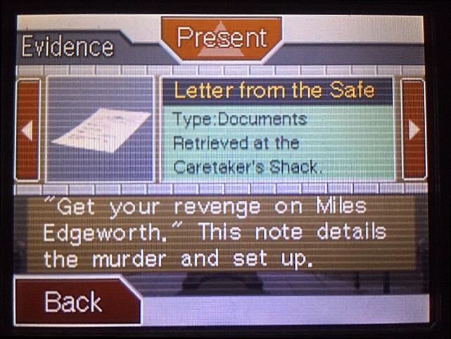 逆転裁判 北米版 金庫の中の手紙の書き手とは…2