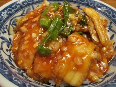 タチウオの甘酢あんかけ丼1