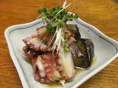 タコと茄子の生姜ソース3