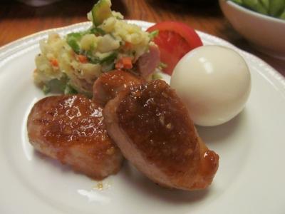 メバチマグロのガーリックステーキ小皿1
