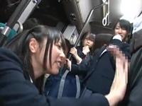 JKだらけの逆痴漢バス!