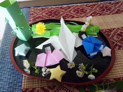 クリスマス 折り紙 : 7月の折り紙 : mogumogu0215.blog.fc2.com