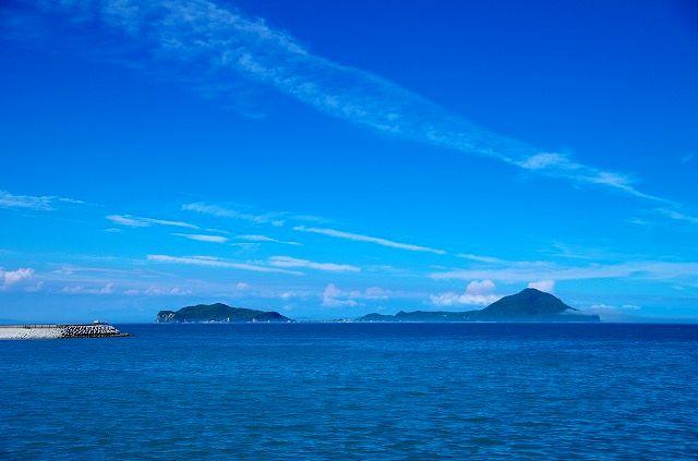 県北の青い海と青い空そして姫島