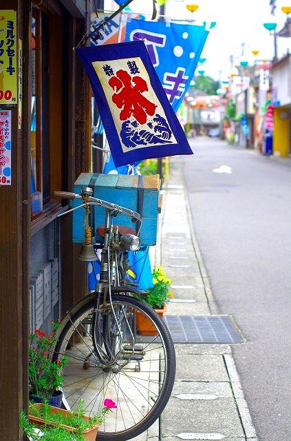 森川豊国堂家宝の自転車となぜか桔梗