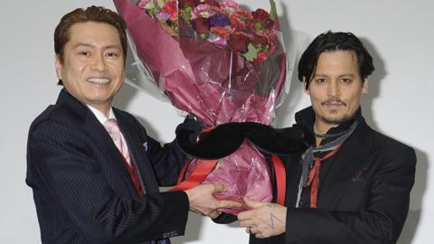 ジョニー・デップ、吹き替え声優の平田広明と初対面!20年越し2ショット  映画「チャーリー・モルデカイ」ジャパンプレミア #Johnny Depp