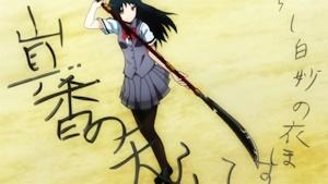 薙刀を振るう神崎さん