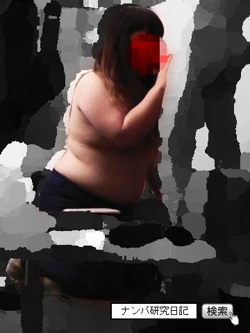 【出会い系アポ】 デブデブな美容師 努力のセックス_立ちフェラ
