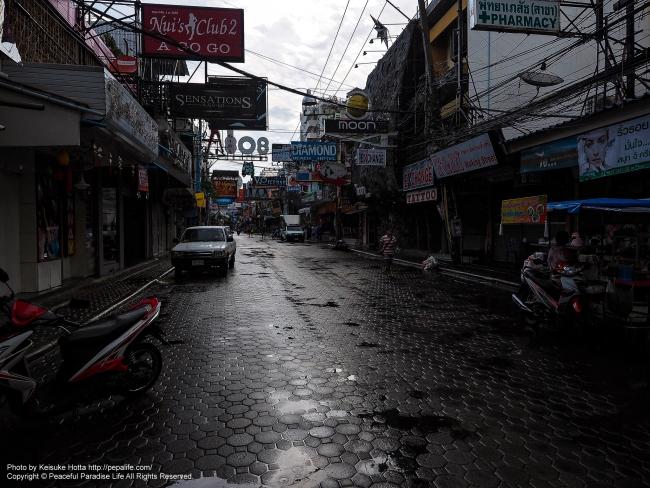 小雨のWalking Street