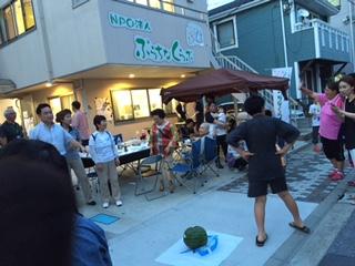 納涼会スイカ割りIMG_0436
