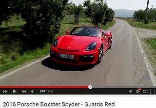 ポルシェボクスタースパイダー_981_CARS_RED1