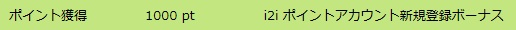 i2i 新規登録ボーナス