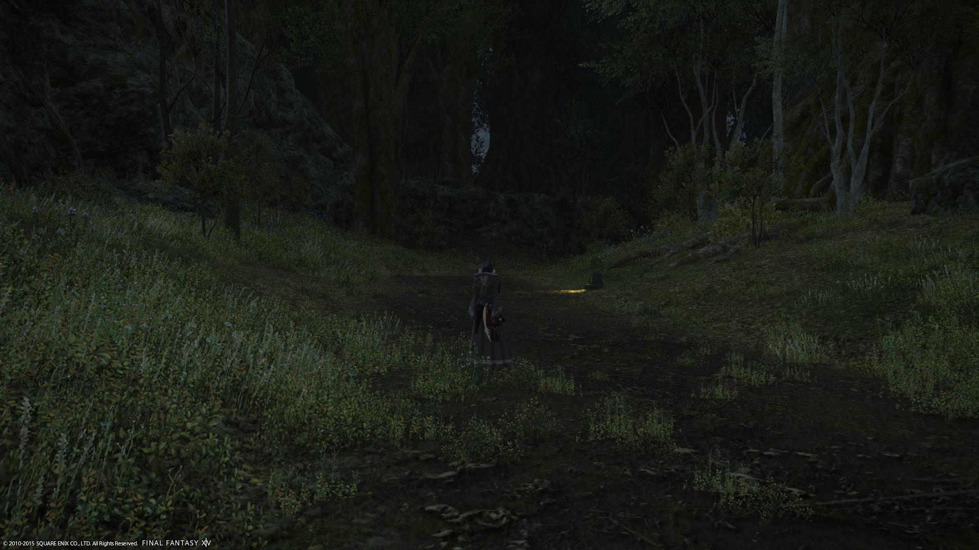 夜道は怖い