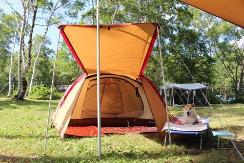 片品武尊牧場キャンプ場で初めてのテント設営&場内散策