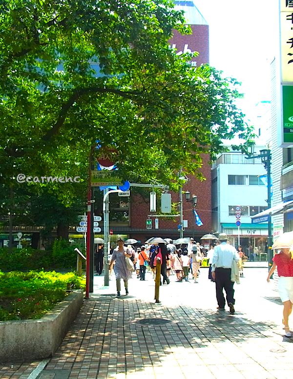 神戸屋前の舗道