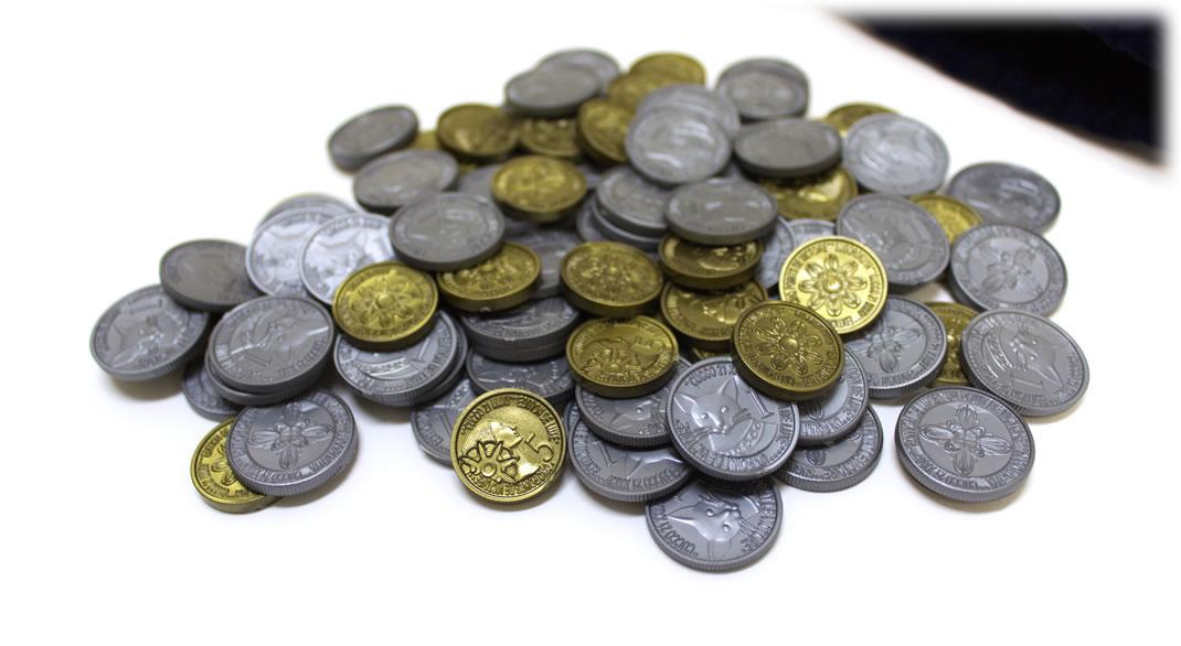 クク21第四版の金銀コイン