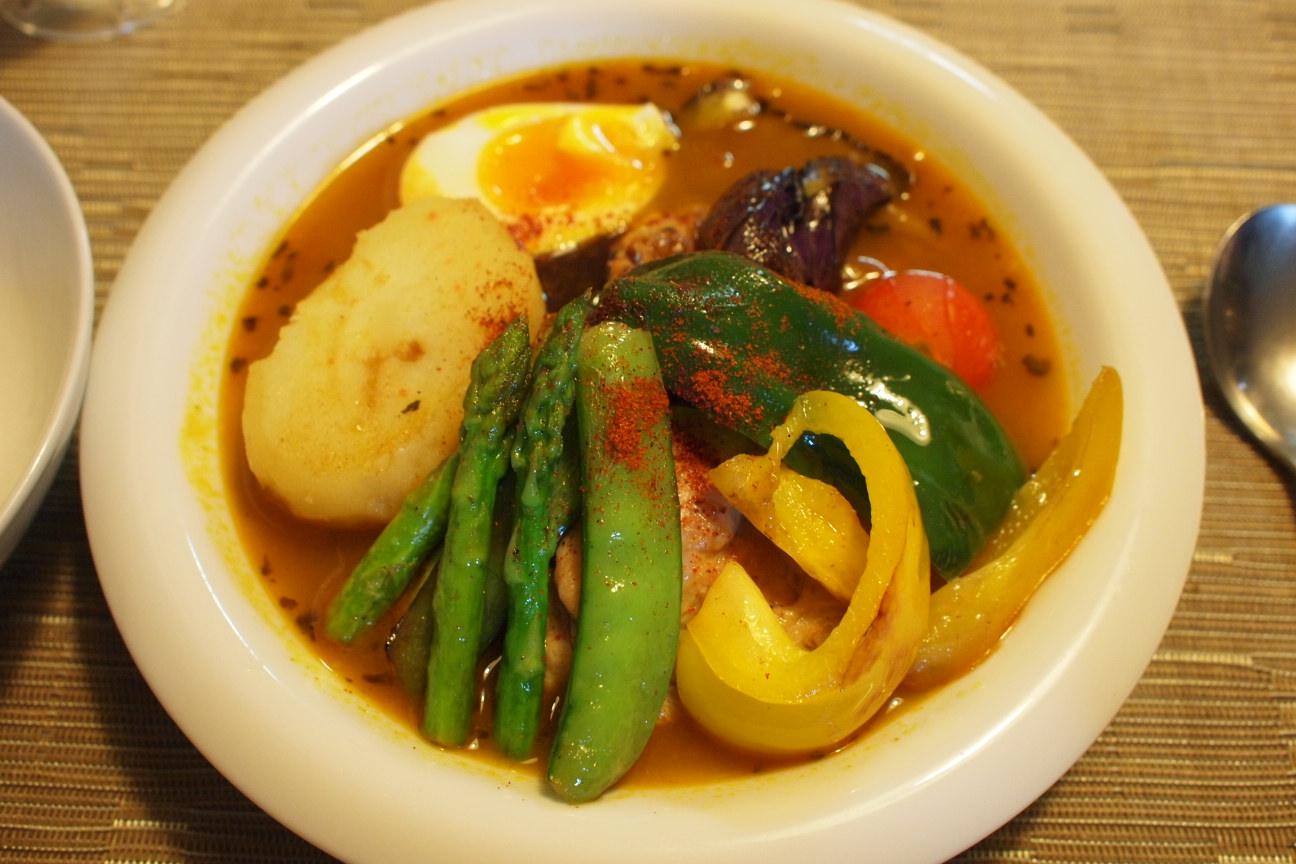 夏野菜たっぷりスープカレー