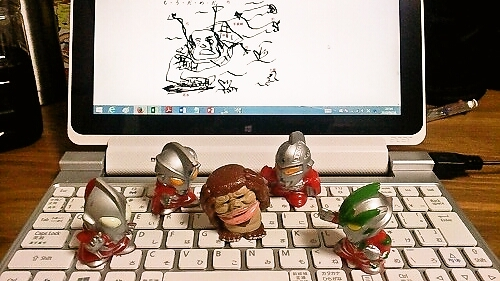 M1号とウルトラマン 指人形