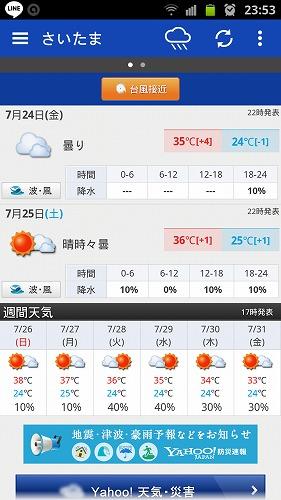 夏の気温 38度