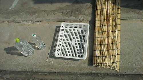 エアコン室外機に日除け 7