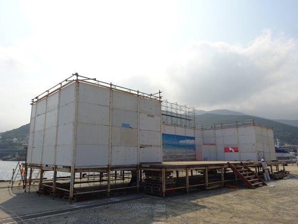 港祭り 舞台仮設組立て完了